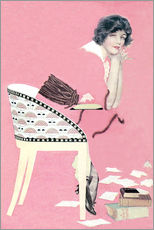 Gallery print  pink books - Clarence Coles Phillips
