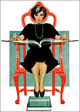 Gallery print  reading Nancy - Clarence Coles Phillips