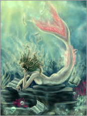 Gallery print  Reading Mermaid - Lost Books - Tiffany Toland-Scott