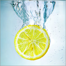 Wall Sticker  lemon splash - Silvio Schoisswohl