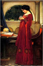 Gallery print  The crystal ball - John William Waterhouse