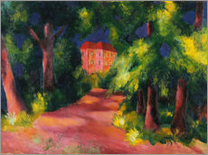 Gallery Print  The red house at the park - August Macke