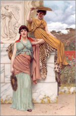 Wall sticker  Waiting for the procession - John William Godward
