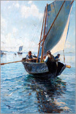 Wall sticker  Fishermen in a boat - Johan Krouthén