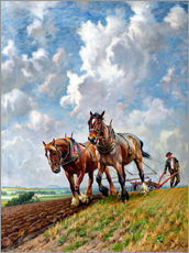 Wall sticker  Ploughing the Fields - George Wiliam Horlor