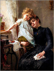 Wall Stickers  The little seamstress - Paul Hermann Wagner