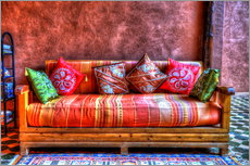 Wall sticker  Oriental sofa in Tinghir, Morocco - HADYPHOTO