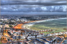 Gallery print  View over the beach at Agadir - HADYPHOTO