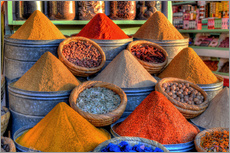 Gallery print  Oriental spices on the bazaar in Marrakech - HADYPHOTO by Hady Khandani