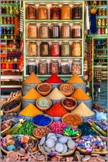 Gallery print  Spices on a bazaar in Marrakech - HADYPHOTO by Hady Khandani