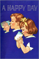 Gallery print  With milk a lucky day begins - Advertising Collection