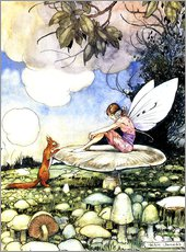 Gallery print  Fairy and squirrel