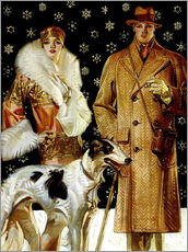 Wall sticker  Couple with Greyhound - Joseph Christian Leyendecker