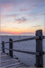 Gallery print  Jetty into the sea from St Peter Ording - Dennis Stracke