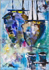 Gallery print  coloured Boats - Diana Linsse