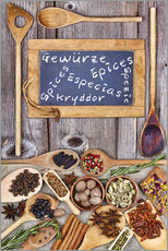 Gallery print  Spices in different languages - Thomas Klee