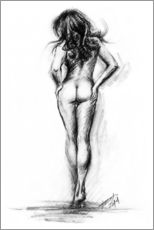 Wall sticker  Nude female sketch - EDrawings38