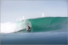 Wall sticker  Surfer in paradise - big green surfing wave - Paul Kennedy