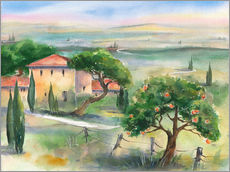 Gallery print  Tuscany with orange tree - Jitka Krause