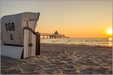 Gallery print  Beach chair on Usedom - Dennis Stracke