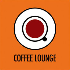 Wall sticker  Coffee Lounge, orange - JASMIN!