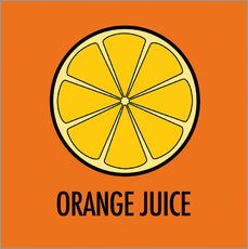 Wall sticker Orange Juice