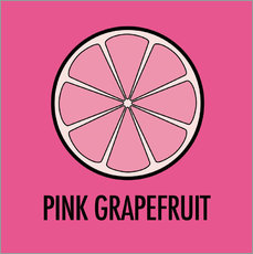 Wall sticker Pink Grapefruit Juice