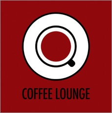 Wall sticker Coffee Lounge, brown