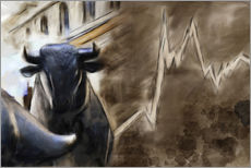 Gallery print  Bull in front of Frankfurt Stock Exchange - Michael artefacti