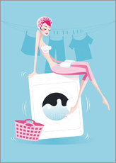 Wall sticker  launderette - Ping Lee