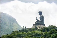 Wall sticker  TianTan Buddha in Lantau - Jan Christopher Becke