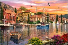Wall Stickers  Harbour Sunset - Dominic Davison