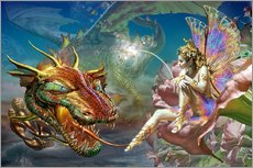 Gallery print  The dragon and the fairy - Adrian Chesterman