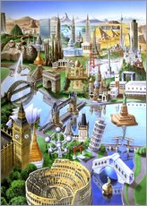 Gallery print  Landmarks of the world - Adrian Chesterman