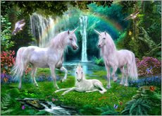 Gallery print  Rainbow unicorn family - Jan Patrik Krasny