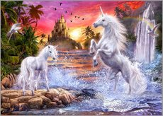 Gallery print  Unicorn waterfall sunset - Jan Patrik Krasny