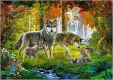 Wall sticker  Summer Wolf Family - Jan Patrik Krasny