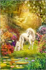 Wall Stickers  Unicorns in the garden - Jan Patrik Krasny