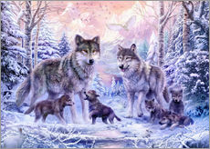 Wall Stickers  Winter Wolf Family - Jan Patrik Krasny