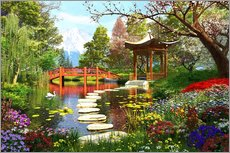 Wall sticker  Gardens of Fuji - Dominic Davison