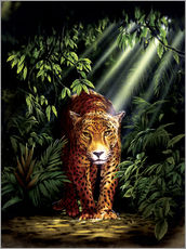 Gallery print  Jungle leopard - Robin Koni
