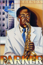 Wall sticker  Charlie Parker - Roger Pearce
