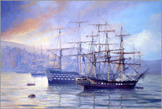 Gallery print  Frigate and 1st Rate c.1815 - Rob Johnson