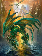 Gallery print  Dragon of the lake - Dragon Chronicles