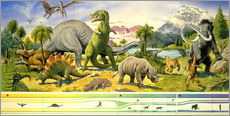 Wall sticker  Land of the dinosaurs - Paul Simmons