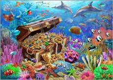 Wall sticker  Undersea Treasure - Adrian Chesterman