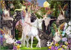 Wall Stickers  Fairy Queen with Unicorn - Garry Walton
