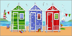 Wall sticker  Colorful beach huts - Peter Adderley