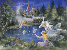 Wall Stickers  Fairies visit the Unicorn - Mimi Jobe