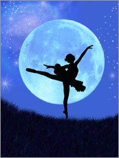 Wall Sticker  Bluemoon Ballerina - Alixandra Mullins
